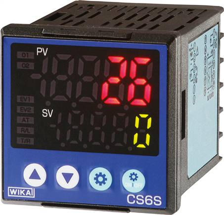 Digital temperature controller for panel mounting, 48 x 48 mm