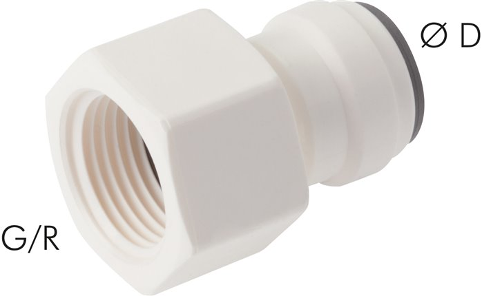 Push in fittings with female threads, LE (metric)