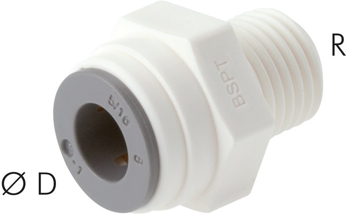 Push in fittings, LE (inch)