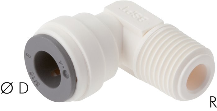 L-push in fittings, LE (inch)