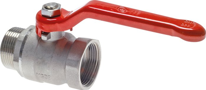 Screw-in ball valves, two-part, full bore, PN 25 (Eco-Line)