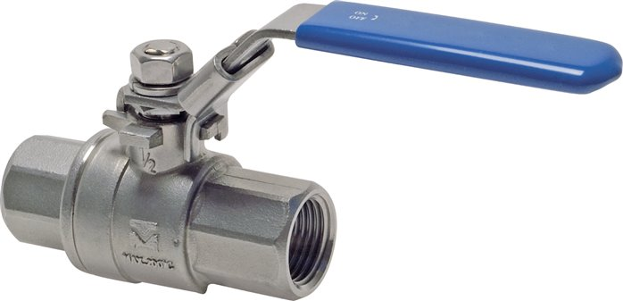 Stainless steel ball valves 2-part, lightweight design, full bore, PN 63 (Eco-Line)
